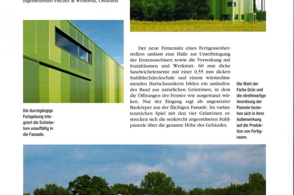 Maschinenhalle Büchner im Informationsblatt Stahl