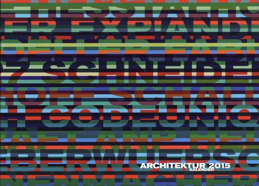 Architekturkalender 2015