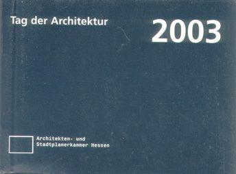 Auszeichnung - Tag der Architektur 2003