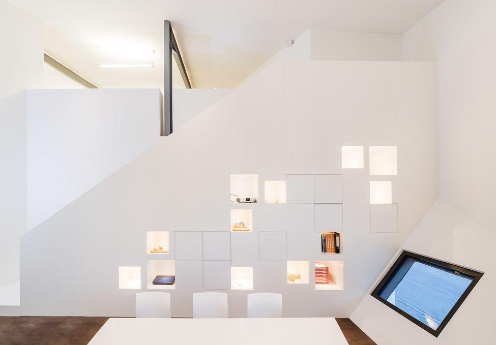 m belentwurf f r ein architekturb ro schranktreppe helwig haus raum planungs gmbh. Black Bedroom Furniture Sets. Home Design Ideas