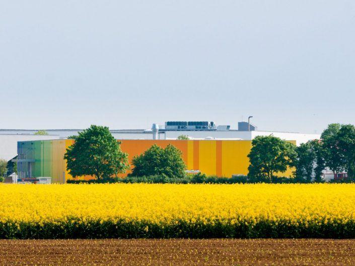 Rainbow Ribbon - Stahlhalle mit Bürotrakt in Heddesheim