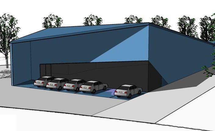 Neubau einer Lagerhalle mit Büroräumen und Werkstatt