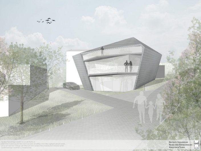 Entwurf für ein Einfamilienhaus in Königstein