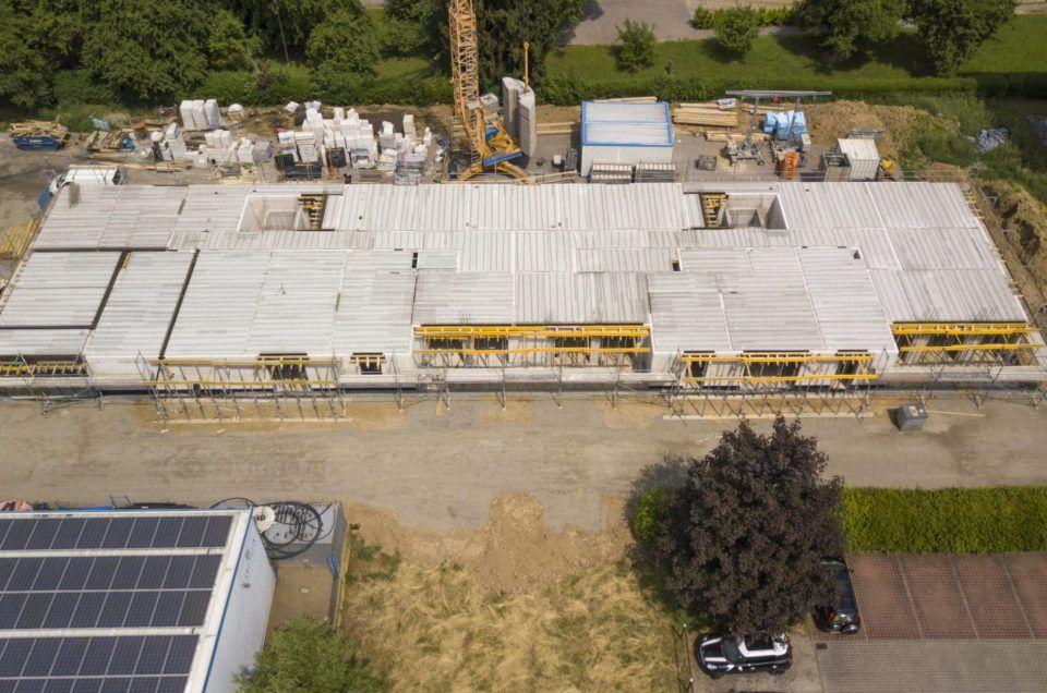 Heppenheim - Erste Elementplatten verlegt