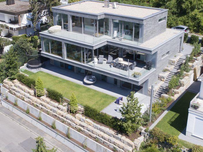 Geschichteter Monolith - Einfamilienhaus in Weinheim