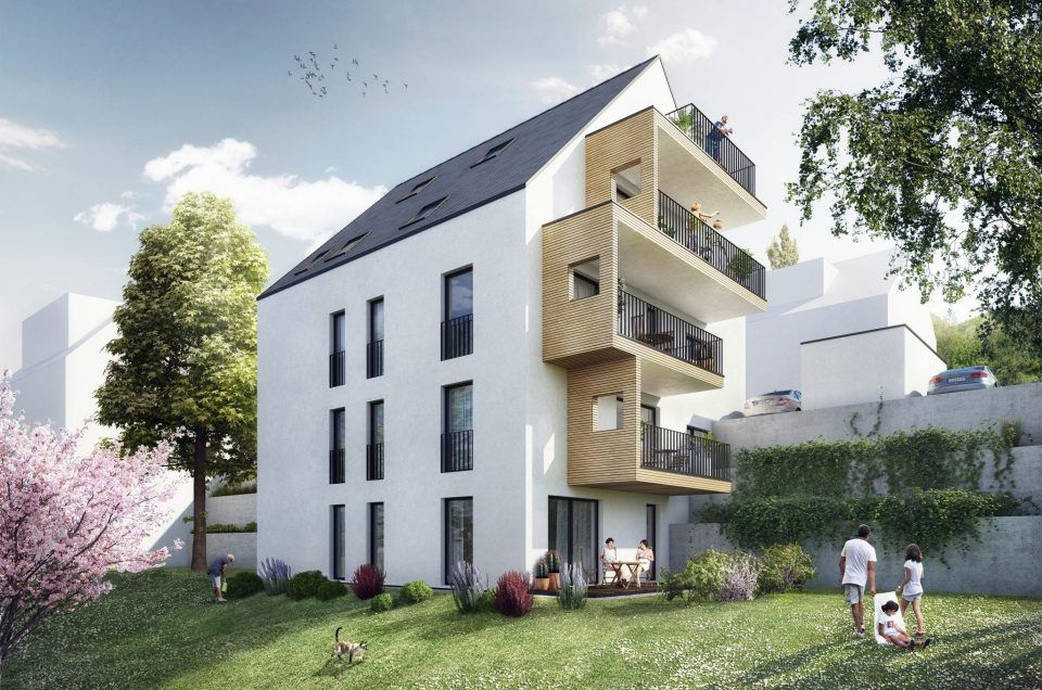 Eleganz am Hang - Neubau eines Mehrfamilienhauses in Birkenau